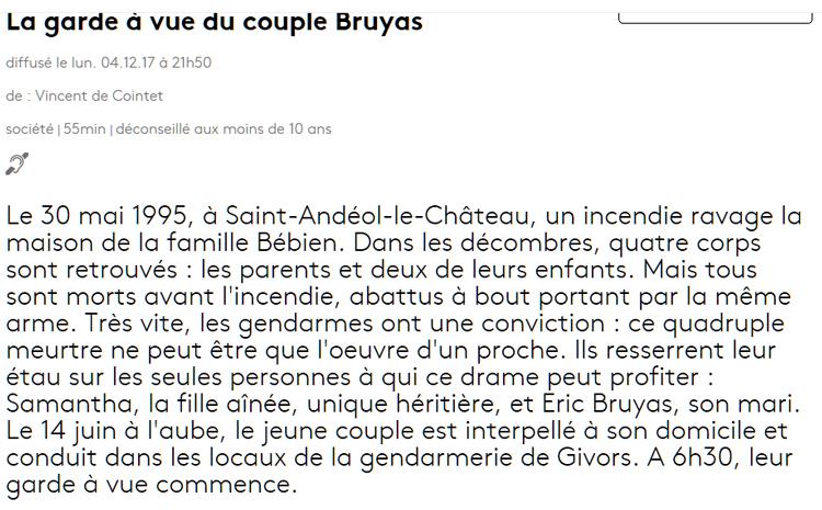 FRANCE 5 - Affaire Bruyas