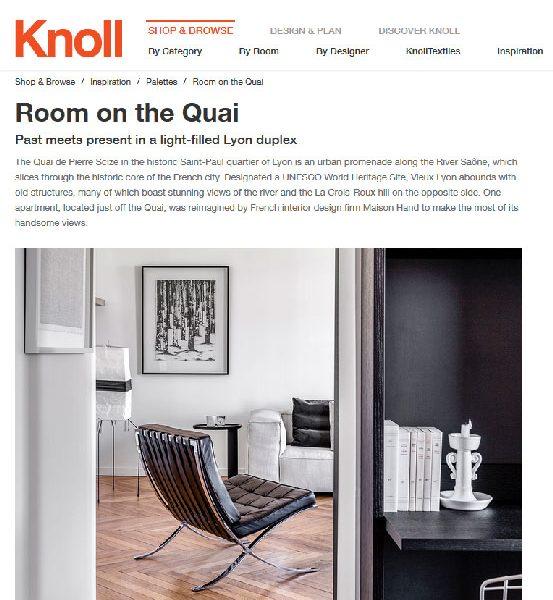 Knoll parle de maison HAND